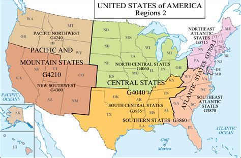 map of united states by regions us map 6 regions