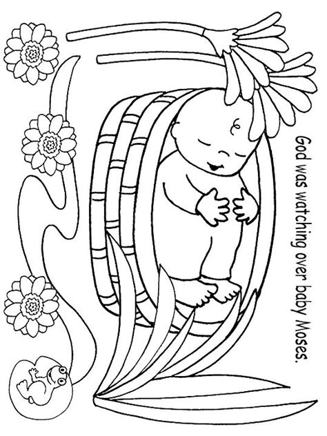 preschool bible coloring pages moses free coloring pages of moses miriam