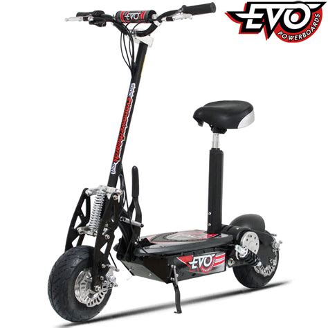 motorized scooter uberscoot 1000w electric scooter by evo powerboards