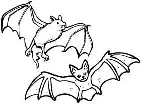 bat color az coloring pages