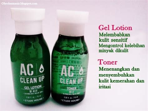Etude House Ac Clean Up Gel Toner 15ml review etude house ac clean up gel lotion toner pink powder mask a