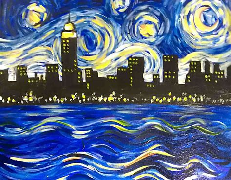 paint nite nyc contact number nyc starry sat nov 26 7pm at pinot s palette