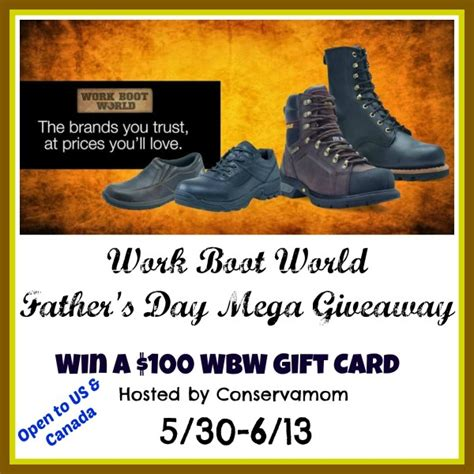 World Giveaways - work boot world giveaway funtastic life