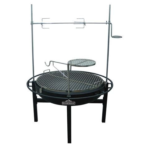 Firepit And Grill Rivergrille Cowboy 31 In Charcoal Grill And Pit Gr1038 014612 The Home Depot