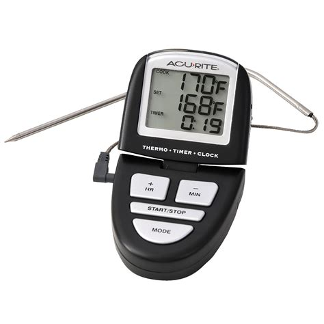 Termometer Manual acu rite programmable digital grill thermometer timer 0648sb dtmdirect