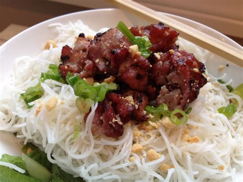 Bun Thit Nuong by Bun Thit Nuong Grilled Pork With Noodles And Herbs In