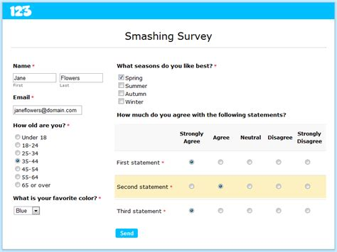how to set up an online survey smashing forms