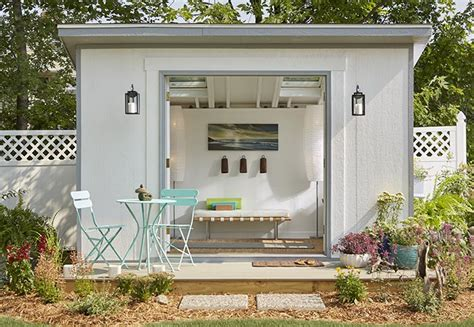 4 stylish she shed looks