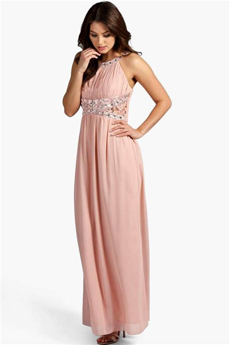 Chiffon Lace Dress embellished lace detail chiffon maxi dress at boohoo