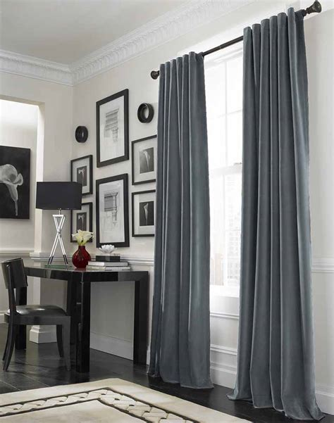 Office Curtains Ideas Blind Curtains Cool Grey Curtain Ideas For Large Windows Modern Home Office Table Bedroom