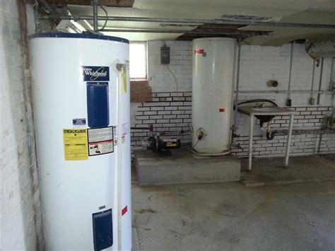 water storage tank in basement