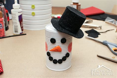 diy crafts with tin cans diy craft tin can snowman