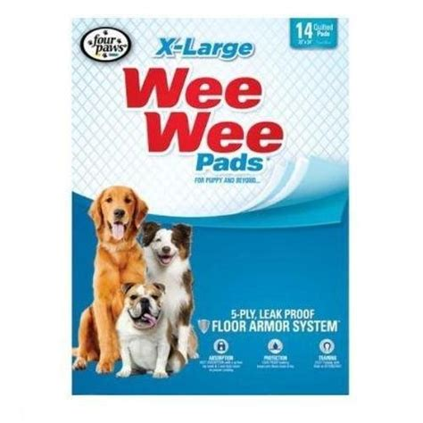 paws wee wee pads  puppy dogs  large  ct