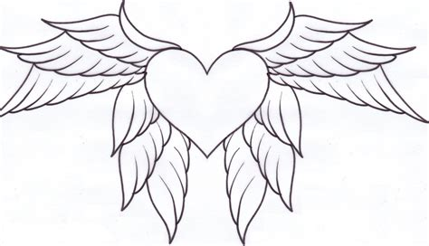 coloring pictures of hearts with wings hearts with wings and roses coloring pages coloring home
