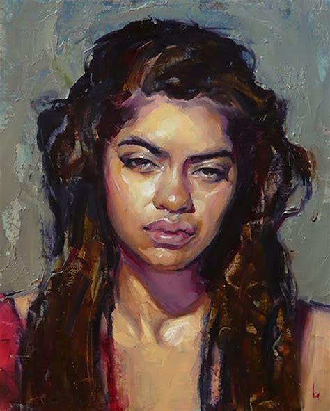 quot red quot marci oleszkiewicz oil on linen female head art black woman paintings portraits 173 best john larriva b