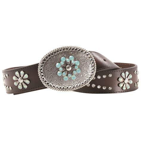 mf a100086 05 fashion rhinestone leather belt chocolate