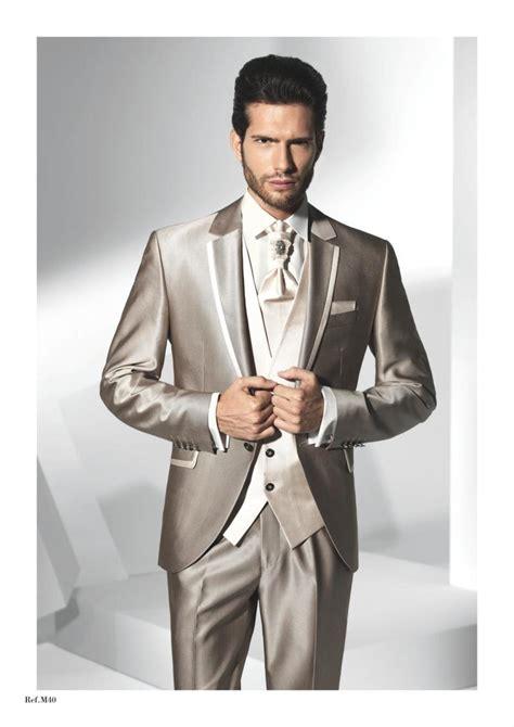 2015 best design lapel chagne wedding suits for men