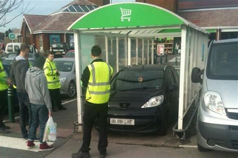 Asda Green Room by Asda Picture Of Car Parked In Supermarket Trolley Bay Is