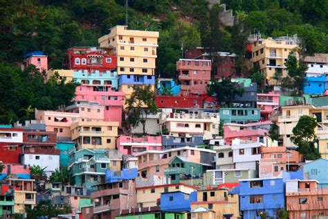 jalousie city on site haiti bright colorful signs of progress in the