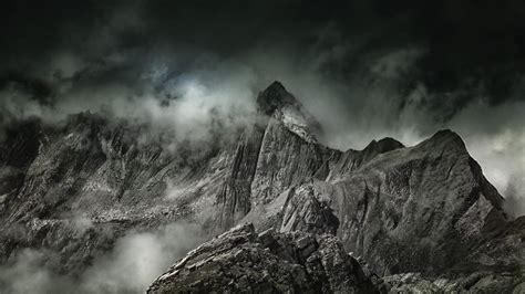 hd hintergrundbilder nebel gipfel berge desktop hintergrund