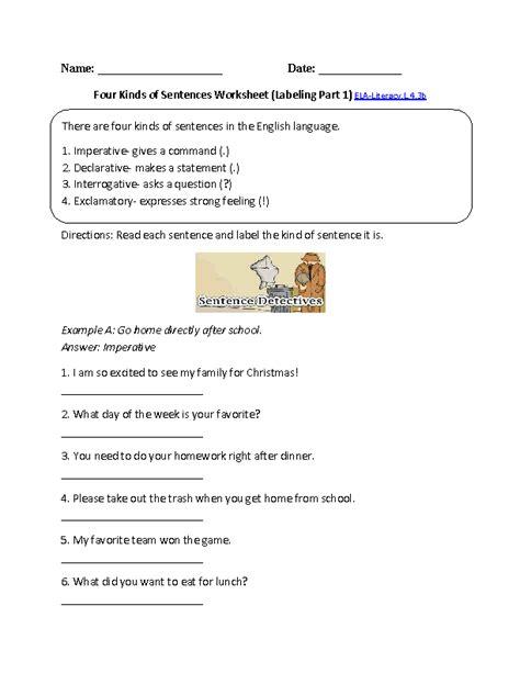 exle of command sentences worksheet homework help what is command sentense