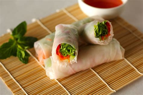 How To Make Rice Paper Rolls - healthy sugar free food for xen