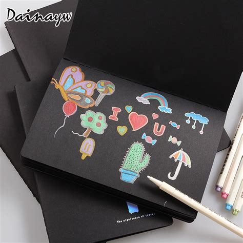 black paper sketchbook blank drawing book for and adults 108 pages xl size 8 5 x 11 notebook books aliexpress buy sketchbook diary drawing painting