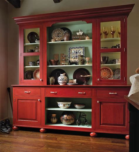 kitchen china cabinets european red country hutch home red country decorate hutch
