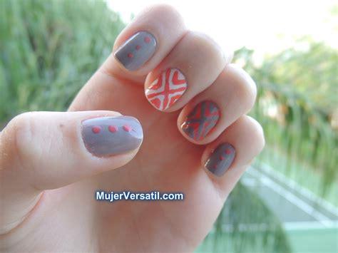 imagenes de uñas pintadas pequeñas dise 241 o de u 241 as en gris y durazno