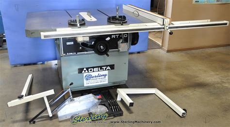 delta table saw for sale 16 used delta table saw mdl rt 40 96789 sterling