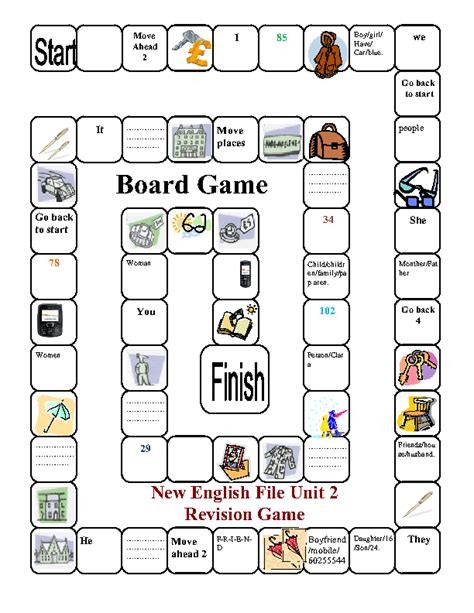 free printable noun board games singular plural board game