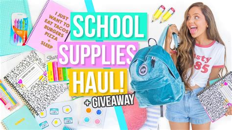 Back To School Supplies Giveaway 2017 - back to school supplies haul giveaway 2017 youtube