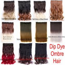dying real hair extensions new ombre dip dye half clip in hair extensions