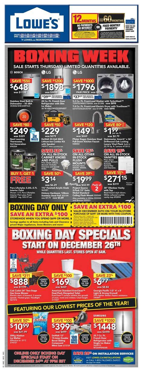 Lowe's Boxing Week Sale Flyer December 22 to 28, 2016 Canada
