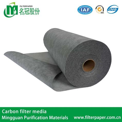 Activated Carbon Media Filter Air wholesale nonvowen activated carbon automotive cabin filter media in roll with synthetic filter