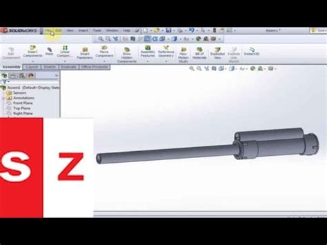 solidworks tutorial gun solidworks potato gun tutorial youtube