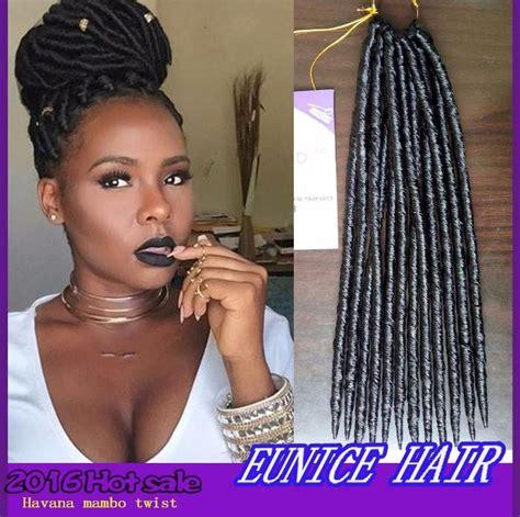 crochet hair braids braiding hair 2x faux locs braid 18 by amy janet collection 2x havana mambo twist dread faux locs