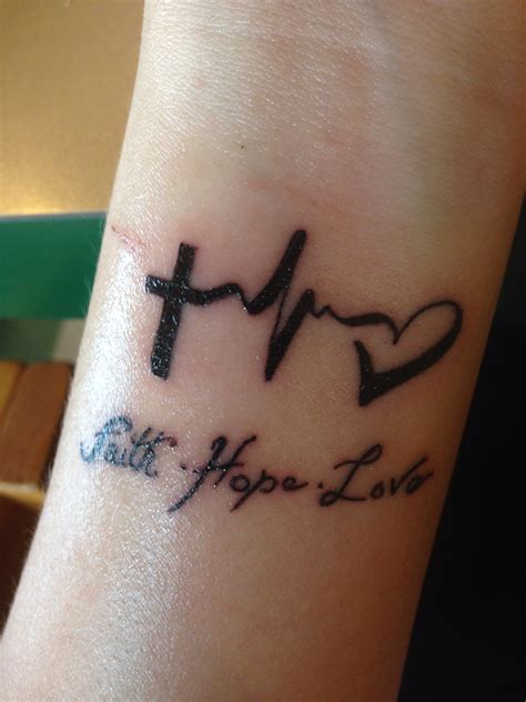 faith love hope tattoos designs wrist faith