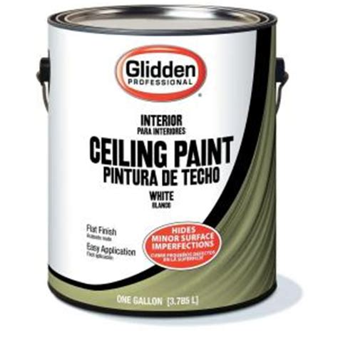 glidden professional 1 gal flat ceiling paint gpl 0000 01 the home depot