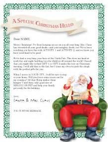 north pole santa letter