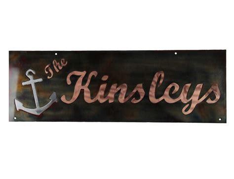 smw472 custom metal home name anchor sign sunriver metal