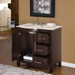 Bathroom Vanity With Cabinet 36 Quot Silkroad Kimberly Single Sink Cabinet Bathroom
