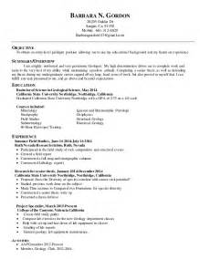 Cover Letter Geologist by Resume For Psw Position Bestsellerbookdb