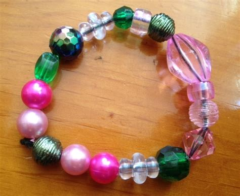 simple beaded bracelets to make simple bead bracelets my kid craft