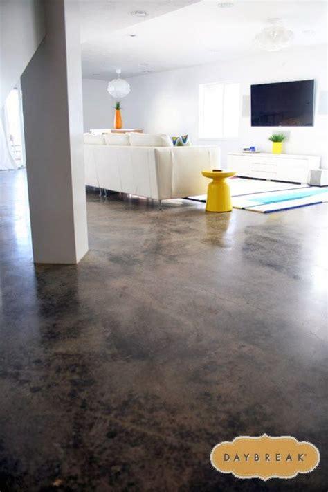 love  concrete floors   basement
