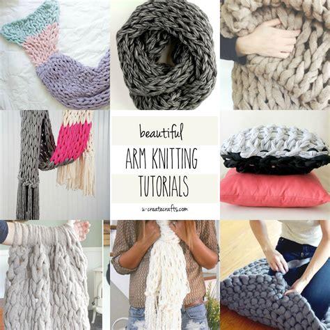 knitting tutorials arm knitting tutorial diy crafts