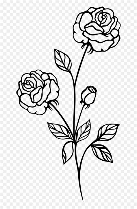 Rose Flower Png Black And White & Free Rose Flower Black
