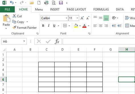 membuat tabel melalui html cara membuat tabel pada microsoft excel 2013 tutorial sy
