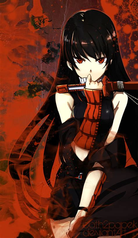 painting agame akame akame ga kill wallpaper by coth2papek on deviantart