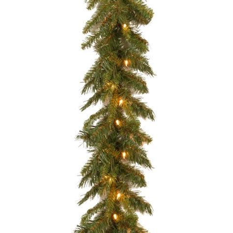 national tree co tiffany fir 9 green slim artificial national tree 9 foot by 10 inch tiffany fir garland with